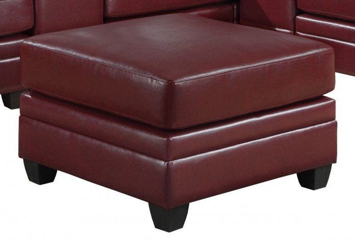 8300RD Red Ottoman