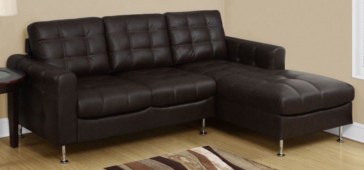 8380BR Dark Brown Bonded Leather Sofa Lounger