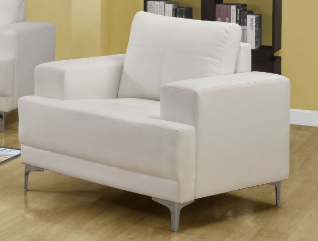 8601IV Ivory Bonded Leather Chair