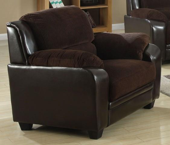 Chocolate Corduroy/Brown Chair