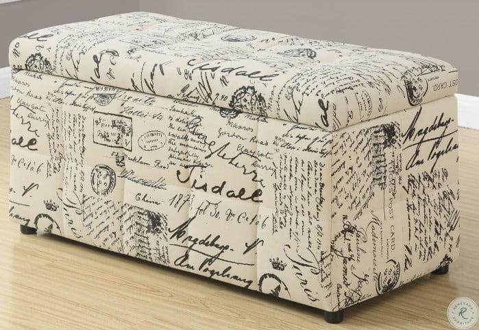 Remarkable Vintage French Fabric Storage Ottoman Inzonedesignstudio Interior Chair Design Inzonedesignstudiocom