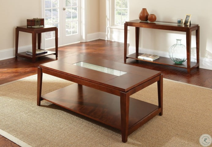 Ice Fruitwood Occasional Table Set