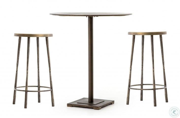 Element Aged Brass Fannin Bistro Counter Height Dining Room Set
