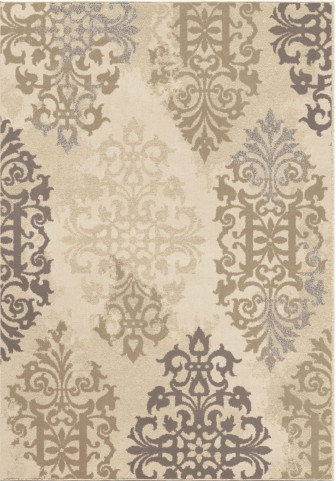 Epiphany Soft Scroll Anzio Ivory Small Area Rug
