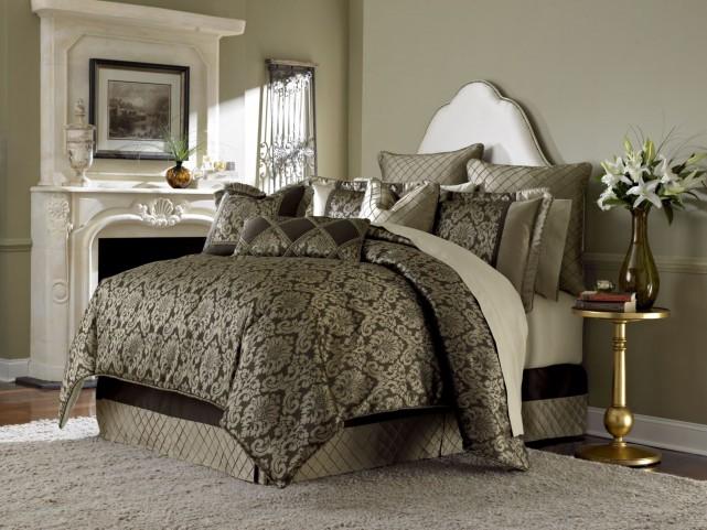 Imperial Bronze 9 piece Queen Comforter Set