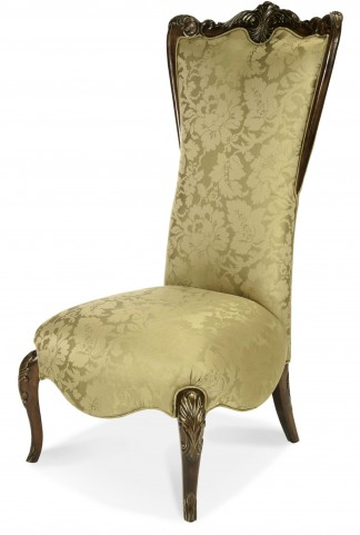 Imperial Court Citrus High Back Wood Trim Chair