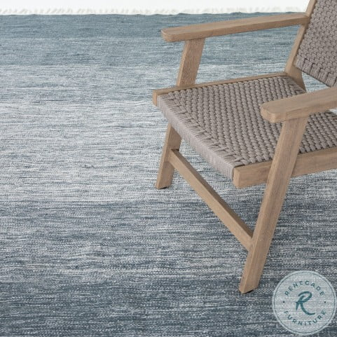 Nomad Loma Ombre Navy Outdoor Small Rug