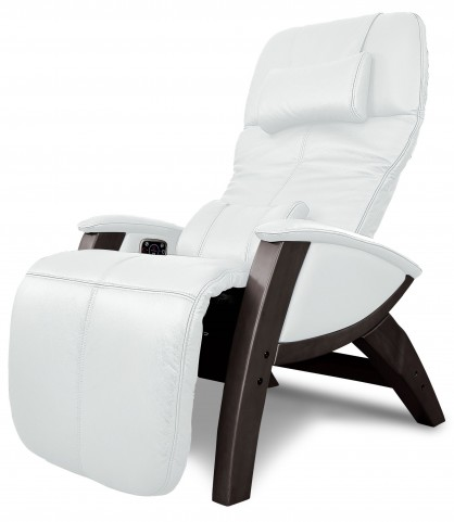 Svago Ivory Leather Lusso Chair With Walnut Wood Legs