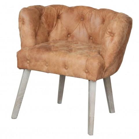Jasper Chestnut Leather Dining Chair