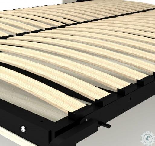 Lumina White Chocolate and Dark Chocolate Full Wall Bed with Desk