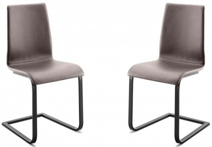 Jude Skill Taupe Steel Chair Set of 2