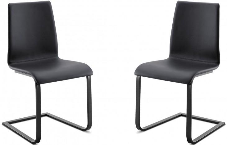 Jude Skill Black Steel Chair Set of 2