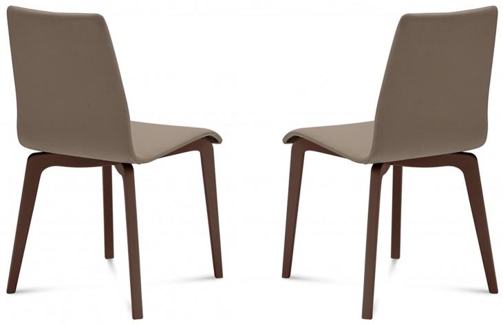 Jude Skill Taupe Chocolate Frame Ashwood Chair Set of 2