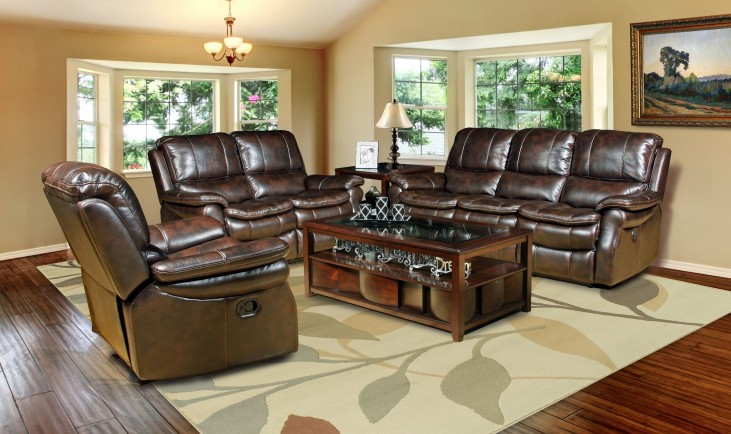 Juno Nutmeg Dual Power Reclining Living Room Set