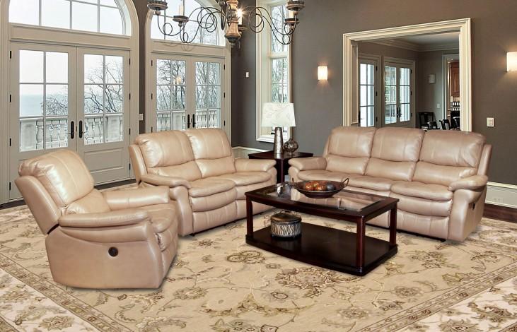 Juno Sand Dual Power Reclining Living Room Set