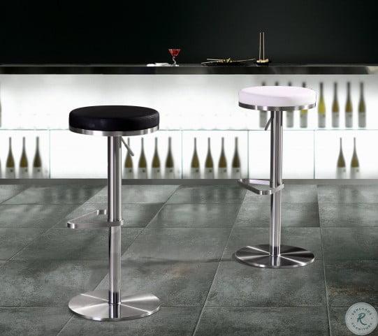 Fano Black Stainless Steel Adjustable Bar Stool