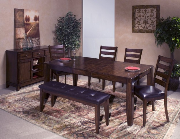 Kona Brushed Rasin Butterfly Leaf Extendable Dining Room Set From Intercon