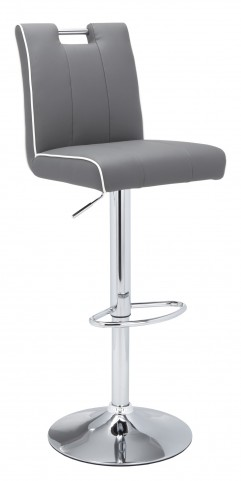 Kalvin Grey/White Adjustable Barstool