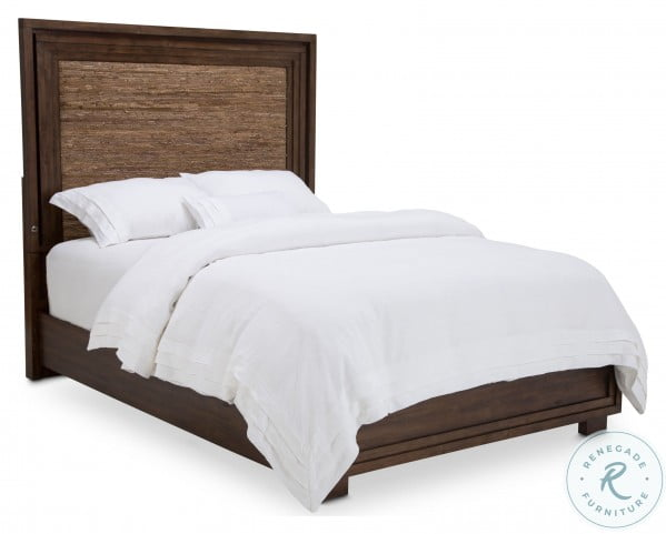 Carrollton Rustic Ranch King Panel Bed From Aico Coleman Furniture