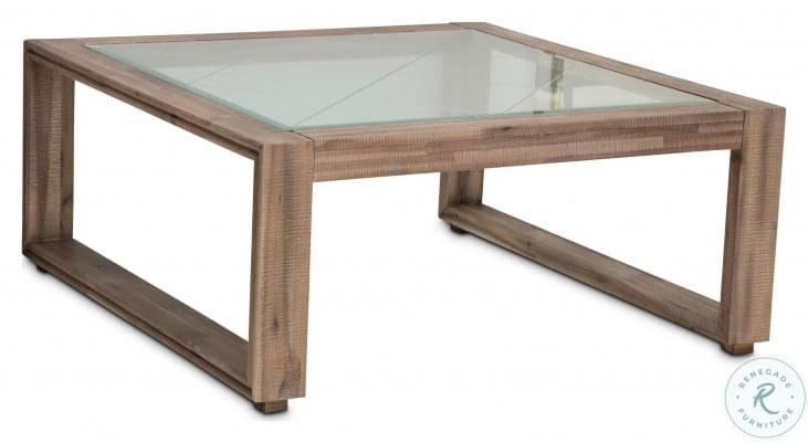 Hudson Ferry Driftwood Square Occasional Table Set