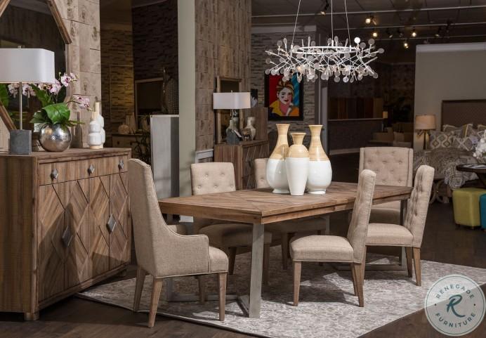 "Hudson Ferry Driftwood 96"" Rectangular Extendable Dining Room Set"