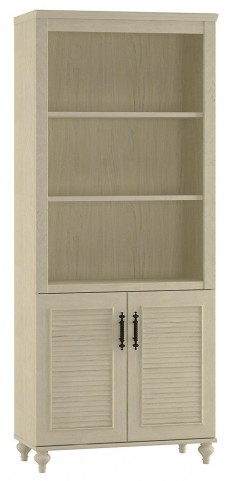 Volcano Dusk Driftwood Dreams Bookcase with 2 Door Cabinet