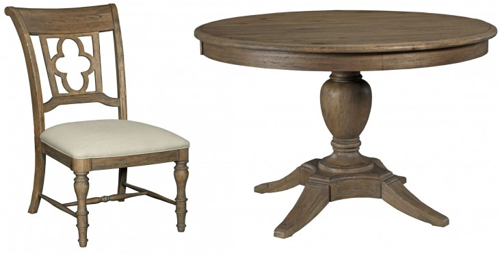 Weatherford Heather Milford Round Extendable Dining Room Set