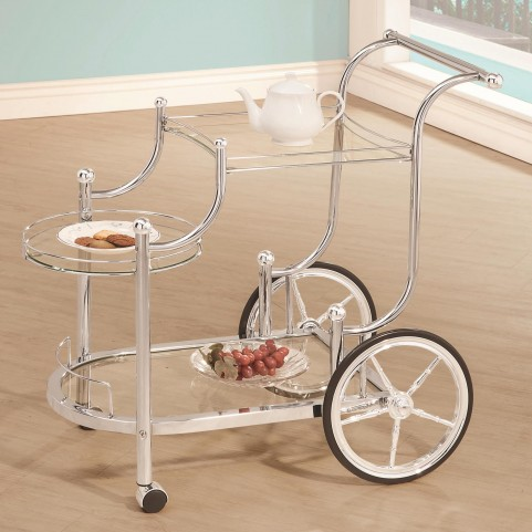 910076 Wheeled Serving Cart