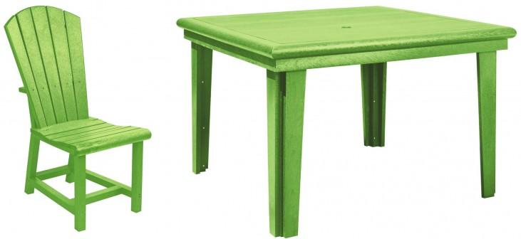 "Generations Kiwi Lime 46"" Square Dining Room Set"