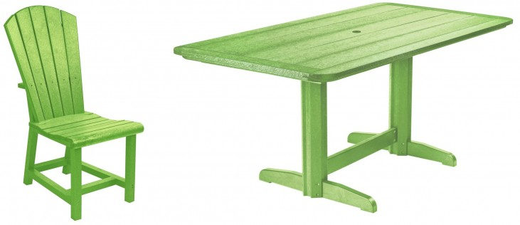 "Generations Kiwi Lime 36"" Double Pedestal Dining Room Set"