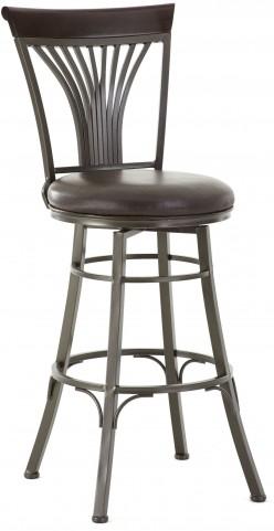 Karol Bonded Leather Swivel Bar Chair