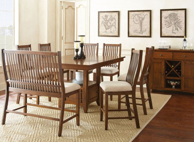 Kayan Extendable Counter Height Storage Dining Room Set