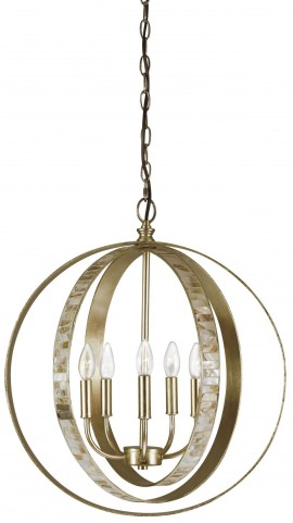 Moshe Silver Leaf Metal Pendant Light