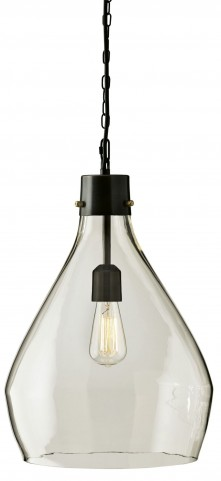 Avalbane Clear and Gray Glass Pendant Light