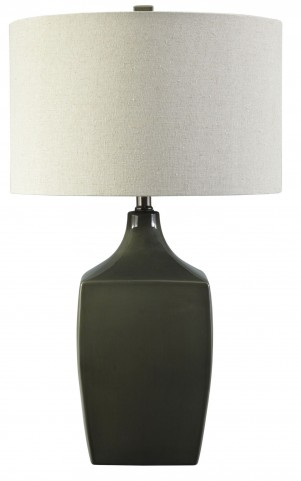 Sheaon Dark Green Ceramic Table Lamp