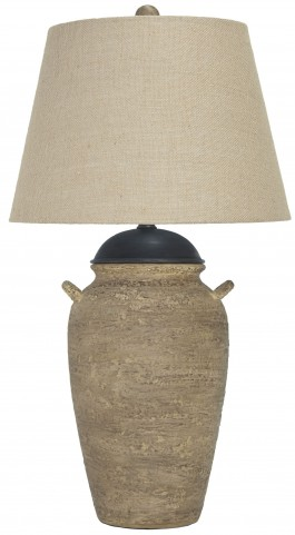 Dargiana Beige Ceramic Table Lamp