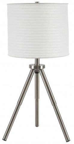 Susette Brushed Silver Metal Table Lamp Set Of 2