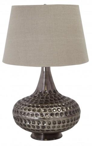 Pewter Metal Table Lamp