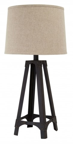 Brown Metal Table Lamp