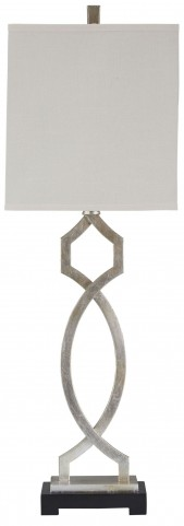 Taggert Silver Leaf Metal Table Lamp