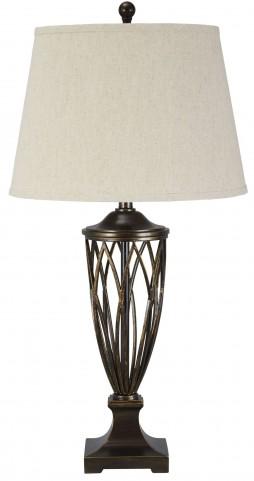 Makai Brown Poly Table Lamp