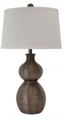 Gunmetal Poly Table Lamp