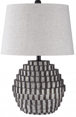 Amarine Antique Black Poly Table Lamp