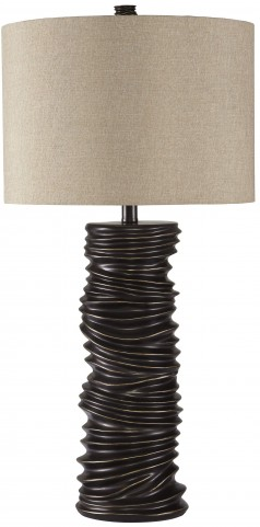 Turbotic Brown Poly Table Lamp