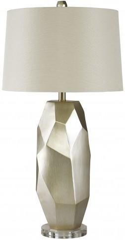 Darda Silver Poly Table Lamp