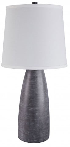Shavontae Gray Poly Table Lamp Set Of 2