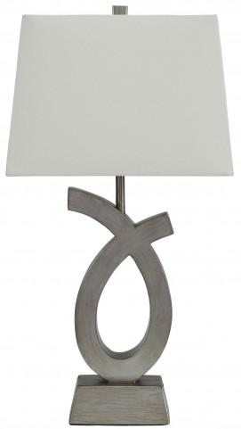 Amayeta Silver Poly Table Lamp Set of 2