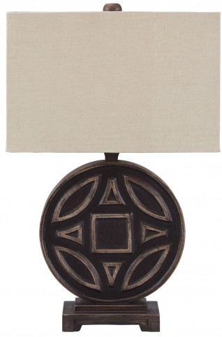 Tabrimon Antique Black Wood Table Lamp