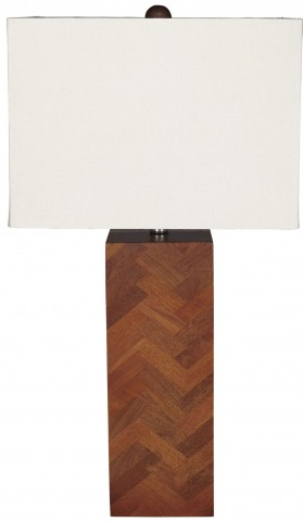 Tabeal Brown Wood Table Lamp