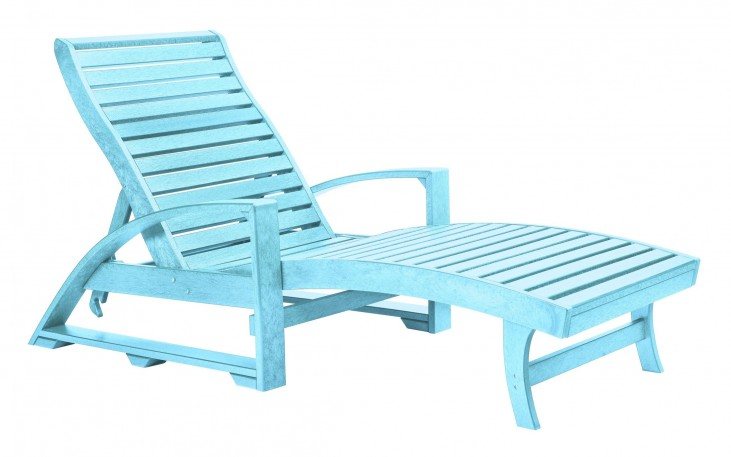 St. Tropez Aqua Chaise Lounge with Wheels